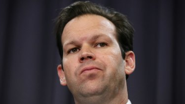 """Senator Matt Canavan, the now ex-minister for resources and northern Australia, nominated for an Ernie for """"blaming his mum""""."""