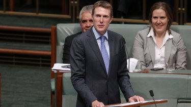 Christian Porter delivers his maiden speech at Parliament House, December 9, 2013.