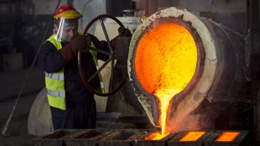 Copper prices could decline 4.1 per cent in 2018, to $US5438 per tonne.