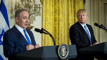 Israeli prime minister Benjamin Netanyahu and Donald Trump at the White House earlier this year.