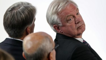 UK's Brexit David Davis attends Mrs May speech.