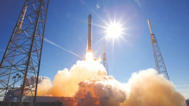 SpaceX's Falcon 9 rocket takes off in Cape Canaveral, Florida.