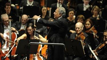 The legendary maestro Zubin Mehta in action.