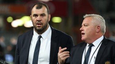 No laughing matter: Wallabies coach Michael Cheika fired a post-match broadside at the All Blacks and the New Zealand media after being portrayed as a clown in a New Zealand newspaper.