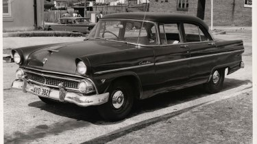 The Ford Customline used in the kidnapping.