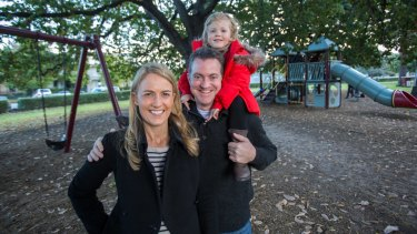 Whole Kids founders Monica and James Meldrum with daughter Chloe.