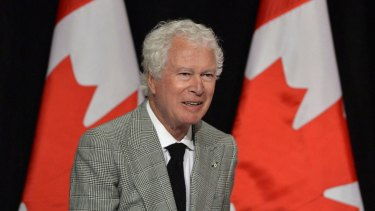 The now late Ken Taylor, former Canadian ambassador to Iran, in 2013. Taylor, who kept Americans hidden at his residence during the 1979 Iran hostage crisis, has died.