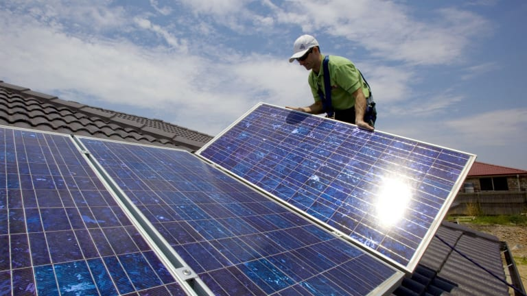 Land of the rising sun: While about 5 million Australians have solar panels on their homes, a push for industrial solar must come next.