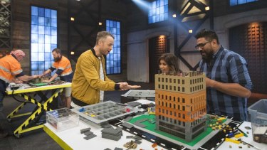 Teams exercise their creativity in Lego Masters.