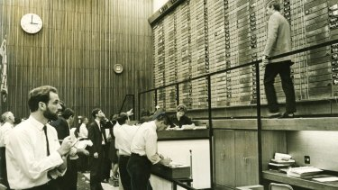 Some rules still seem to hold true, even after decades of change on the markets. This is the old Sydney Stock Exchange in 1968.