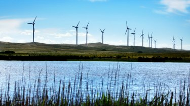 The Codrington windfarm in south-west Victoria.