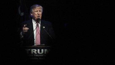 Donald Trump on the stump in South Carolina on Monday.