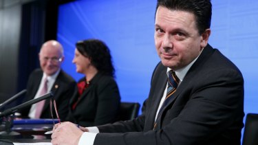 Leaning in: Independent Senator Nick Xenophon is pushing a bill on gender equality for government boards.