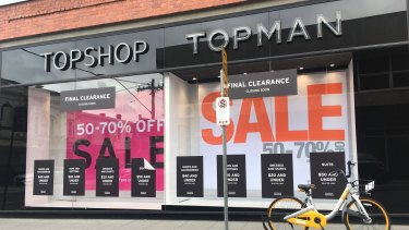 Topshop closes underperforming stores in bid to save