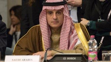 Saudi Arabian Foreign Minister Adel al-Jubeir.
