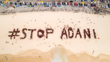 Organisers estimated 1500 people showed up to the Stop Adani event in Bondi. Photo: Stop Adani Campaign.