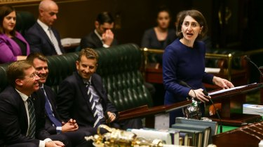 NSW Treasurer Gladys Berejiklian would like more female company on the benches of Parliament.