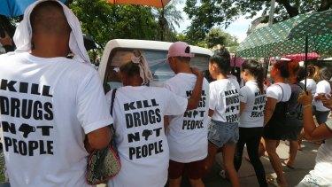 The burial of Leover Miranda, another victim of Duterte's drug war