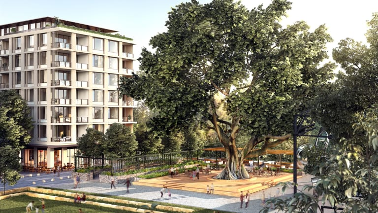 An artist's impression of part of the new residential development on the Newmarket site in Sydney's east.