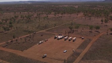 The pilot was able to capture vision of the exploration camp.
