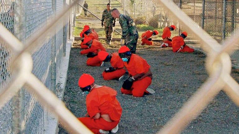 A holding area at Camp X-Ray at Guantanamo Bay in 2002.