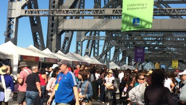 The Story Bridge's 75th birthday celebrations did not leave much room to move.