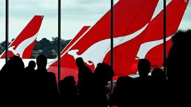 Qantas reported an underlying pretax profit of $367 million in the first half, up from a $252 million loss the previous year.