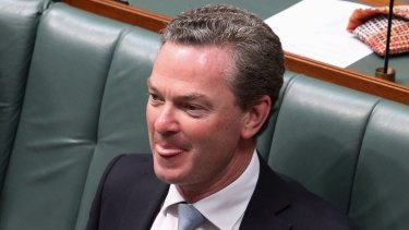 Education Minister Christopher Pyne in question time on Tuesday.