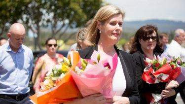 Ardent Leisure chief executive Deborah Thomas arrives at Dreamworld on Friday.
