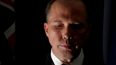 Peter Dutton's majority had dwindled to just 1250 votes on Monday.