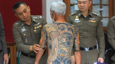 The 72-year-old fugitive who was recognized when images of his full-body tattoos were circulated online.