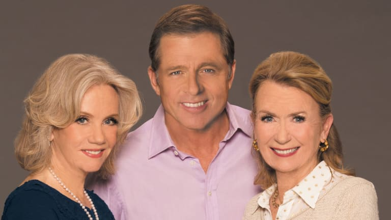 Hayley Mills, actor Maxwell Caulfield and husband of Juliet Mills, right.