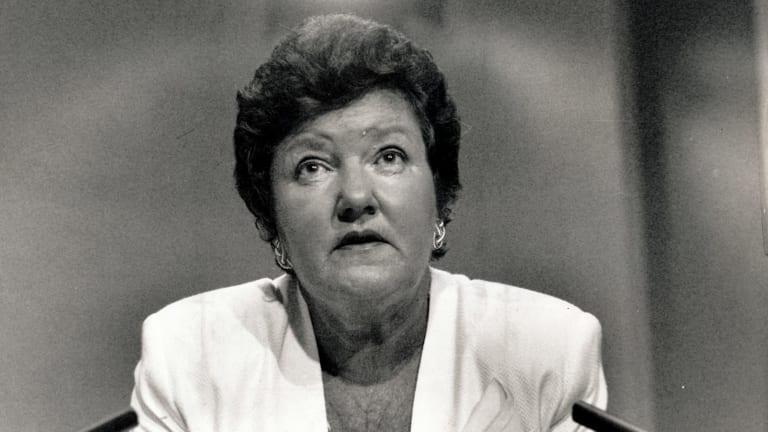 Former Victorian premier Joan Kirner.