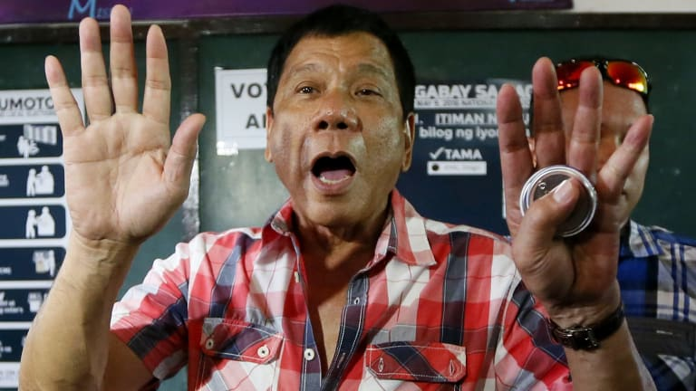 """""""You won't be killed if you don't do anything wrong,"""" Rodrigo Duterte says of journalists."""