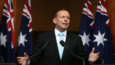 Prime Minister Tony Abbott addresses the media on Tuesday.