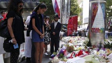 The vigil for Tori Johnson.