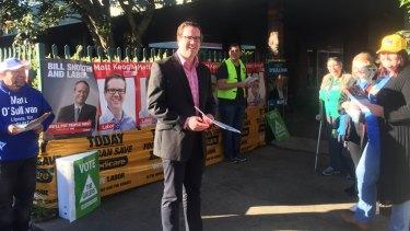 Matt Keogh casts his vote as Labor hopeful for the seat of Burt.
