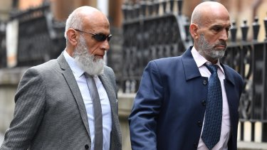 Ibrahim Elomar, left, and Mamdouh Elomar arrive at the Supreme Court of NSW on Wednesday for sentencing.
