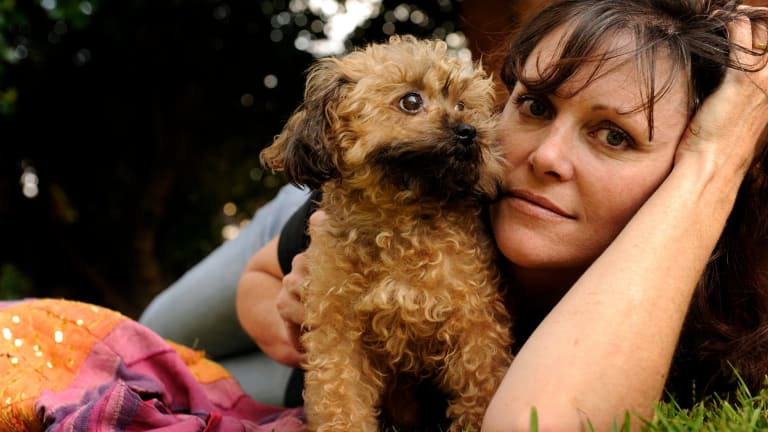 Debra Tranter, with rescued Oscar, challenges MPs to stand up, speak out and end puppy factories.