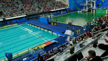 On Tuesday (Rio time) the blue of the water polo pool contrasted markedly with the green of the diving pool.