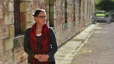 Roseanne Heyward, Tasman Council mayor, at Port Arthur.