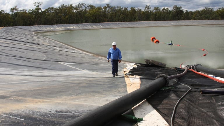 Santos' CSG field in the Pilliga forest has a lot of waste water for disposal.