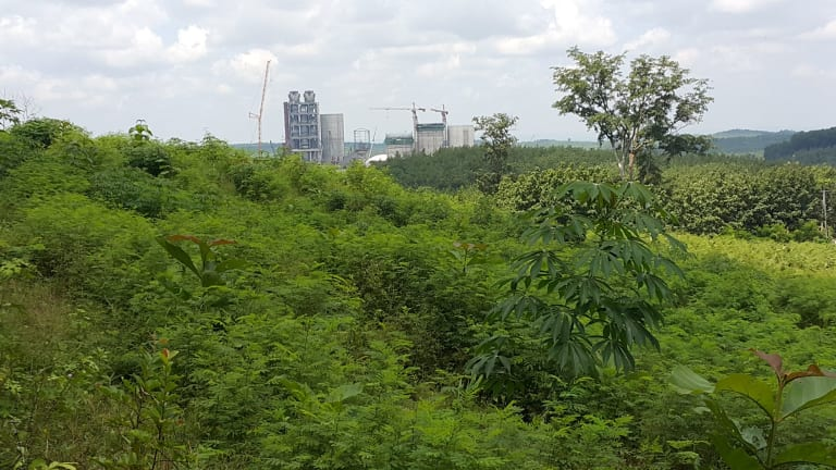 The Semen Indonesia cement factory under construction in Central Java.