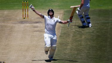 All-round talent: Ben Stokes smashed a double ton for England against South Africa but the crowds at the Test were low.