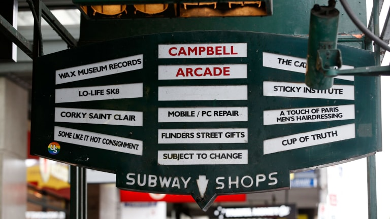 Campbell Arcade's vintage street signage