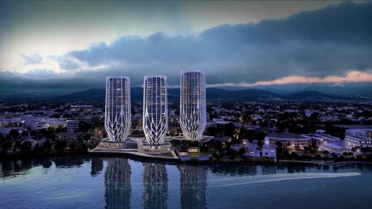 Coming up roses: A proposed Brisbane residential tower plan by Sunland Group.