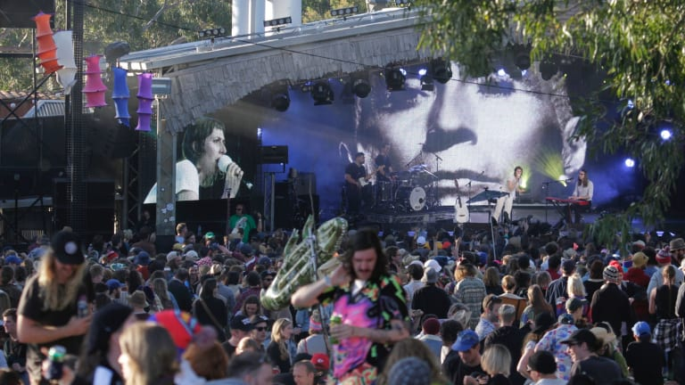 The Meredith Music Festival attracted numerous fans.