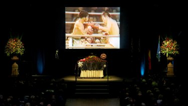 The state funeral for Rose at Festival Hall.