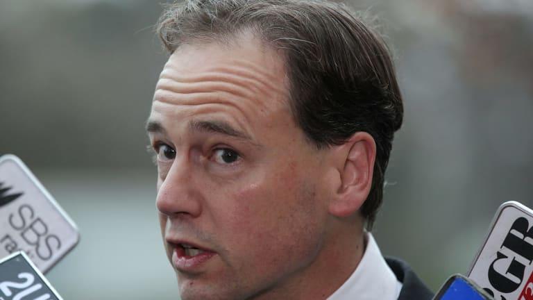Shot down: Environment Minister Greg Hunt.