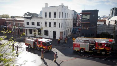 The Albion's rooftop bar and lounge was the target of an arson attack in October last year.